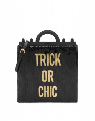 Moschino Trick Or Chic Sequins Shopper Woman Black Size U It - (one Size Us)