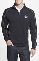 Cutter & Buck Men's Big & Tall 'Kansas City Chiefs - Edge' Drytec Moisture Wicking Half Zip Pullover