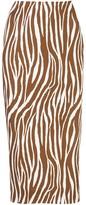 Diane von Furstenberg fitted zebra print silk skirt