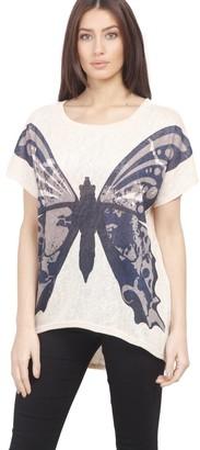 M&Co Izabel butterfly print t-shirt