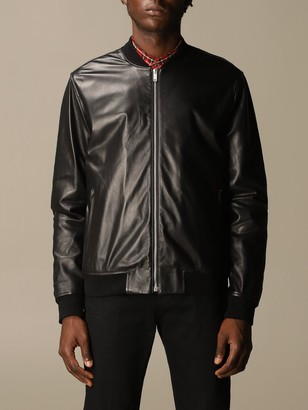Golden Goose Leather Bomber With Zip