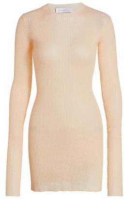 Marina Moscone Mohair & Silk Ribbed Sweater