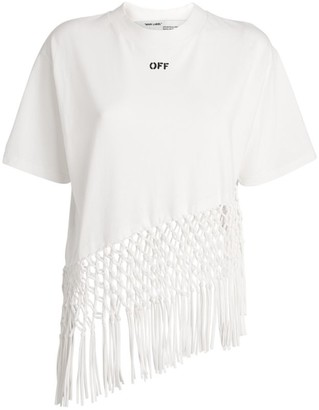 Off-White Fishnet Hem T-Shirt