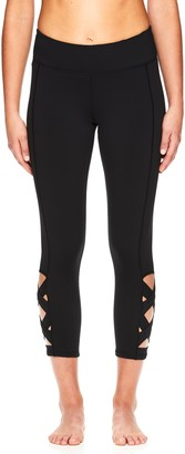 Gaiam Women's Om Lotus Yoga Capri Leggings
