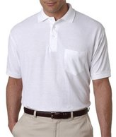 UltraClub Polo Shirt 8544 Solid Men's Whisper Pique with Pocket 5XL Grey
