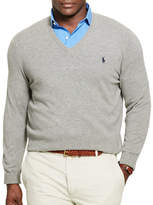 Polo Ralph Lauren Big and Tall Merino Wool V-Neck Sweater
