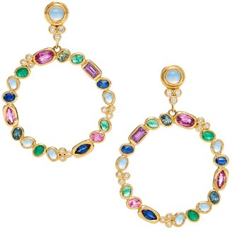 Temple St. Clair Campo 18K Yellow Gold Diamond & Mixed Gemstone Earrings