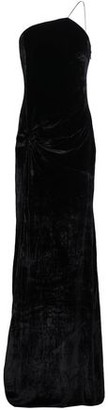 Cinq à Sept Liza One-shoulder Twist-front Velvet Gown