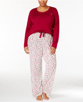 Nautica Plus Size Scoop-Neck Knit Top and Printed Pajama Pants Gift Set
