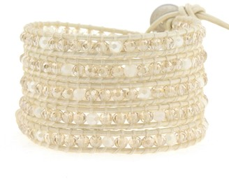 Victoria Emerson Crystal on White-Ivory Leather