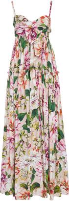 Dolce & Gabbana Floral-Print Tiered Cotton Maxi Dress