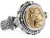 Konstantino Sterling Silver & Bronze Athena Coin Flip Ring