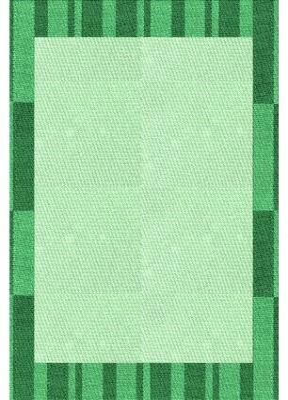 Calypso East Urban Home Geometric Wool Green Area Rug East Urban Home Rug Size: Runner 2' x 5'
