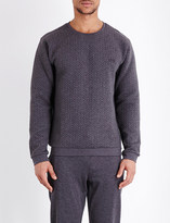 HUGO BOSS Contemporary quilted cotton-jersey sweatshirt