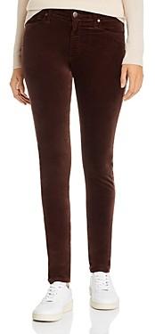 AG Jeans Farrah Velvet Skinny Jeans in Ralleigh Brown