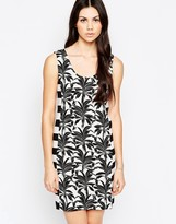 See by Chloe T-shirt Dress In Palm And Stripe Print