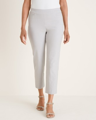 Chico's So Slimming Brigitte Textured Side-Vent Slim Crops