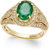 Effy Brasilica by Emerald (1-1/2 ct. t.w.) and Diamond (1/2 ct. t.w.) Ring in 14k Gold