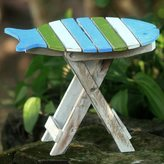 Novica Handcrafted Albesia Wood 'Bawal Fish' Folding Accent Table (Indonesia)