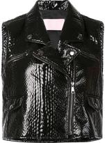 Giamba sleeveless textured biker jacket