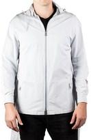 Prada Men's Poplin Tec Zip Trench Jacket Coat Windbreaker Ash Grey.