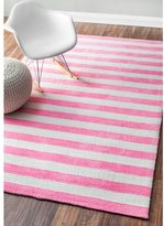 nuLoom Handmade Modern Stripes Kids Rug (5' x 8')