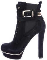 Le Silla Suede Platform Booties w/ Tags