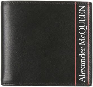 Alexander McQueen Logo Print Billfold Wallet