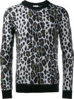 Saint Laurent leopard print jumper