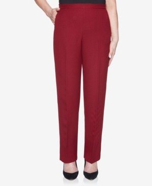 Alfred Dunner Women's Madison Avenue Textured Proportioned Medium Pant