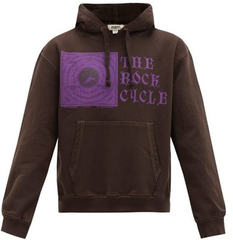Phipps Rock Cycle-print Organic-cotton Hooded Sweater - Brown