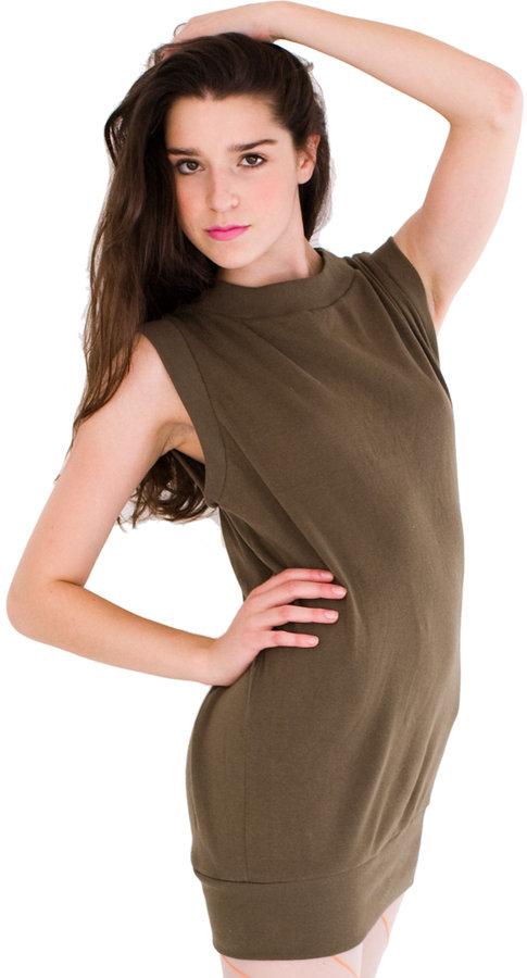 American Apparel Solid Rib Mod Dress