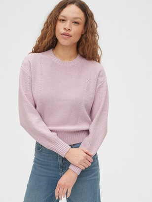 Gap Mix-Stitch Crewneck Sweater