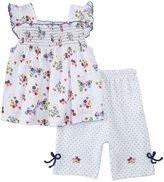 Kissy Kissy Ladybug Lane Capri Pant Set (Baby) - Multicolor-18-24 Months