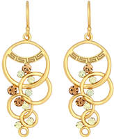 Sis by Simone I Smith 18k Gold over Sterling Silver, Multi-Circle and Crystal Dangle Earrings