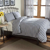 JCPenney Classic Check Percale Duvet Cover Set