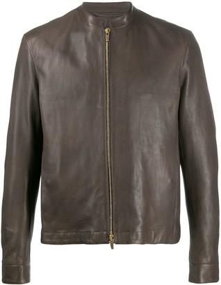 Ajmone Zipped Leather Jacket