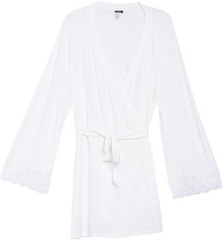 Cosabella Italia Lace Trim Robe (Plus Size)
