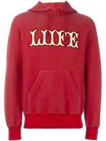 Sacai liife applique hoodie