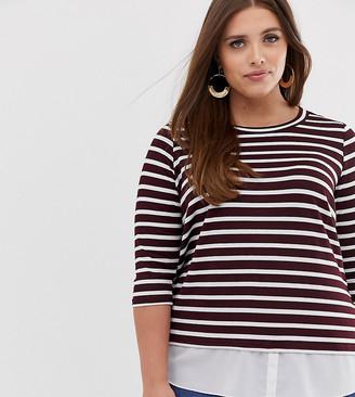 Junarose stripe swing top