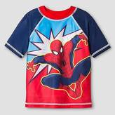 Spiderman Toddler Boys' ; Rash Guard - Red 3T