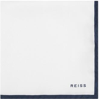 Reiss Moon - Silk Pocket Square in White