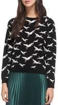 Whistles Crane Jacquard Sweater