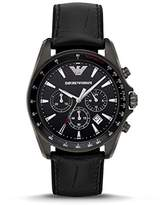 Emporio Armani Men's AR6097 Sport Black Leather Quartz Watch