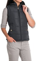 KC Collections Faux-Fur Reversible Vest (For Women)
