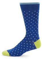 Saks Fifth Avenue Patterned Cotton-Blend Socks