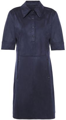 Elie Tahari Zahra Faux Suede Mini Shirt Dress