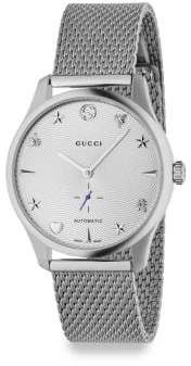 Gucci G-Timeless Stainless Steel Mesh Bracelet Watch
