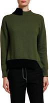 Marni Two-Tone Asymmetric Tie-Back Sweater