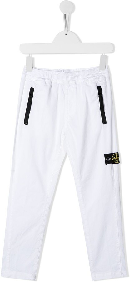Stone Island Junior Slim Fit Logo Patch Detail Track Pants